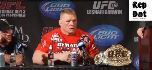 Brock Lesnar Post-UFC 116 Press Conference