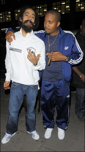 Nas & Damian looking bummy